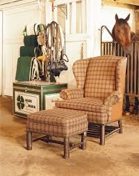 old hickory reader u0027s wingback chair u0026 ottoman rustic armchairs