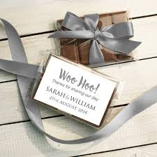 mini chocolate bar wedding favour by quirky gift library