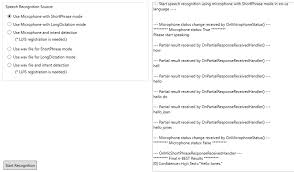 get started with the microsoft speech recognition api by using the