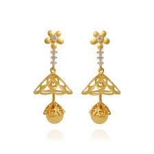 s gold earrings flower chandelier studded gold earrings earrings type