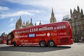 party bus outside brexiteers condemned for not backing 350m nhs amendment to eu