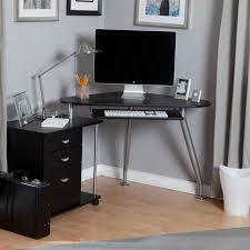 Small Oak Computer Desks For Home Corner Desk Small Oak Computer Desk In Brown Varnished Modern
