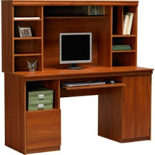 Computer Desk Wood Wood Computer Desk With Hutch Foter