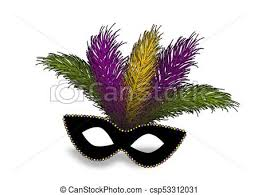 mardi gras mask with feathers mardi gras realistic mask feather colored realistic black
