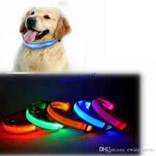 collar light for small dogs 2018 led nylon pet supplies products dog collar night safety led