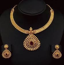 gold necklace set jewellery images Antique gold necklace set jewellery designs gif