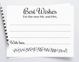 wedding wish cards wedding wish cards etsy