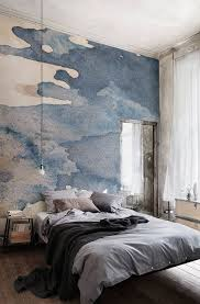 Gray Modern Bedroom Watercolor Wallpapers From Murals Wallpaper We And The Color