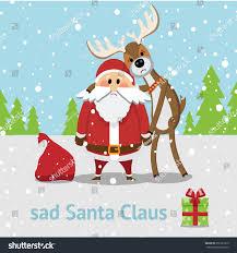 sad santa claus reindeer stock vector 356737910 shutterstock