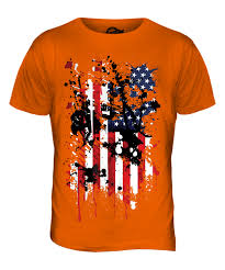 Flag With Cross And Stripes Stars And Stripes Abstract Print Mens T Shirt Usa United States