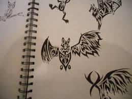 tribal bat tattoo no 2 by mikaylamettler on deviantart