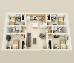 4 bedroom apartment floor plans 50 four 4 bedroom apartment house plans formal dining rooms