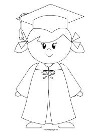 kindergarten graduate coloring color
