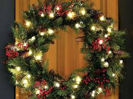 amazing battery operated wreath lights and battery operated wreath