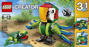 amazon com lego creator rainforest animals toys u0026 games