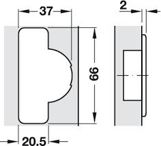 Blind Corner Concealed Hinge Salice 94 Opening Angle Self