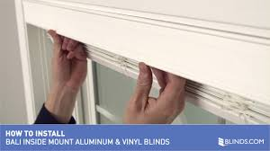 how to install bali aluminum and vinyl blinds inside mount