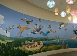 children s library mural google search library pinterest children s library mural google search