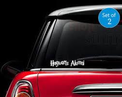 hogwarts alumni bumper sticker hogwarts alumni decal etsy