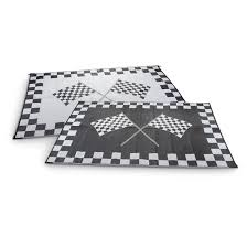 Outdoor Rv Rugs by 6x9 U0027 Checkered Flag Reversible Outdoor Patio Mat 229418 Outdoor