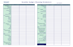 Excel Monthly Planner Template Free Monthly Budget Template Cute Design In Excel Monthly