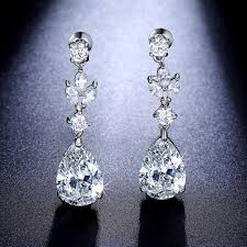 diamond teardrop earrings chandelier teardrop earrings cz dangle earrings