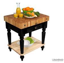john boos cucina rustica butcher block table w shelf