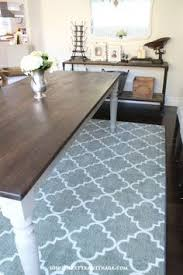 DIY Drop Cloth Rug Doing This Under The Dining Room Table - Area rug dining room