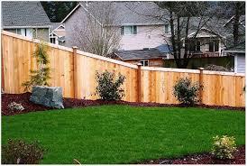 Backyard Fences Ideas Backyards Winsome Gallery Of Wood Backyard Fence Ideas And