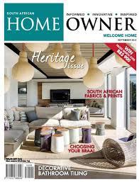 Home Decor Magazines South Africa Sa Home Owner September 2016