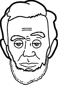 abraham lincoln president face coloring page wecoloringpage