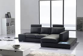 modern black and white leather sectional sofa modern living room with small modern black leather sectional sofa