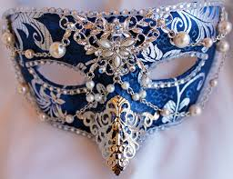 blue masquerade masks blue brocade masquerade mask with filigree work by daragallery on