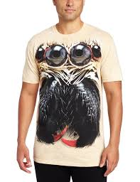 amazon com the mountain men u0027s jumping spider face t shirt clothing