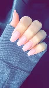pink nails coffin nails nails and classy