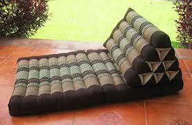 thai triangle cushions pillows floor mats and yoga cushions of