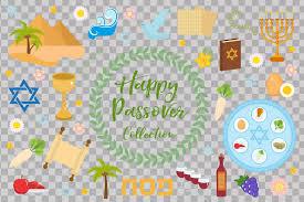 passover seder set passover icons set flat style of exodus