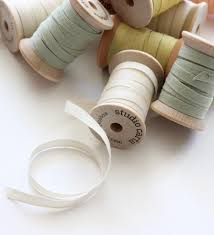 ribbon spools wood spool of 5 yards cotton ribbons angela liguori