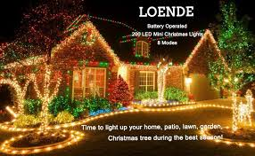 loende battery operated string lights 69ft 200 led 8