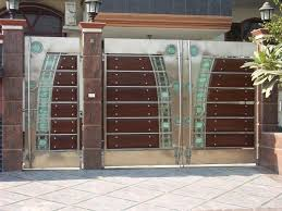 interior outstanding homes main entrance gate design with chrime