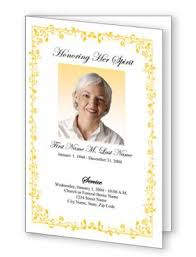 Funeral Pamphlet Ideas New Funeral Program Templates Featuring Decorative Borders