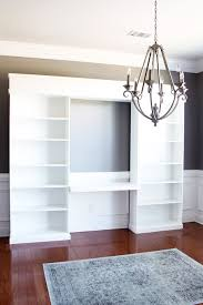 diy built ins with ikea billy bookcases one room challenge week