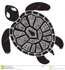decorative graphic turtle tribal totem animal illustra stock