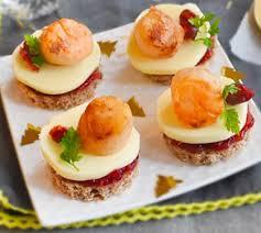 recette canape canapés pétoncles et airelles envie de bien manger