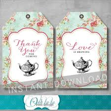 bridal tea party favors shabby chic bridal tea party favor tags bridal shower thank