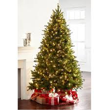7 5 ft pre lit green full hartford pine artificial christmas tree