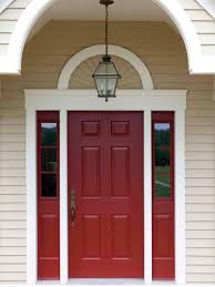 red front door popular colors to paint an entry door curb appeal front entry