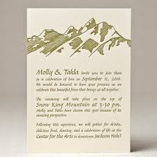 mountain wedding invitations wedding invitations sweet letterpress design wedding