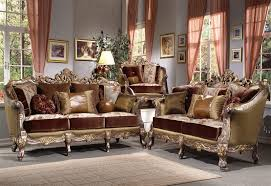 traditional living room set silver 2 piece living room set by homey design hd 9668