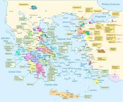 Blank Map Of Ancient Greece Map Shows The Homeland Of U0027most U0027 Of The Characters In Homer U0027s Iliad